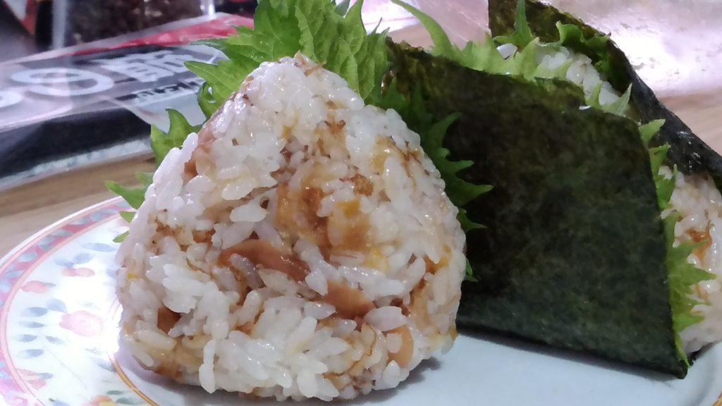 天然塩(海の精)で作る自家製「高級梅干し」とおかかのおにぎり