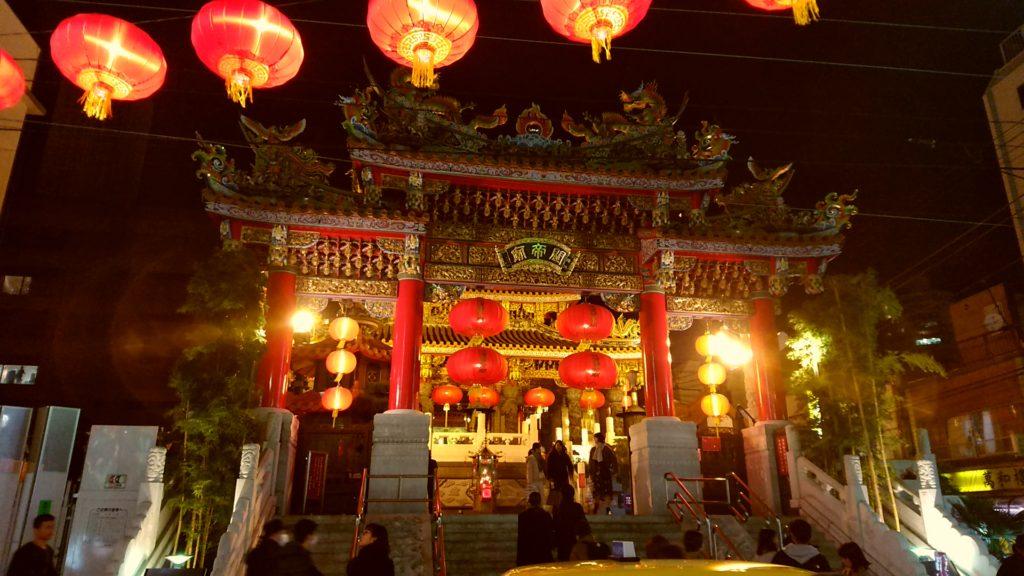 横浜中華街 関帝廟のライトアップ 点心ちゅん
