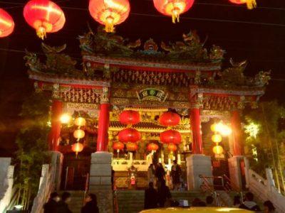 横浜中華街 夜の関帝廟
