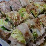 蒸し料理:豚肉の野菜巻き
